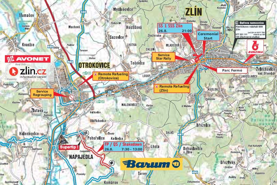 Barum Rally Mapy Rz 2018